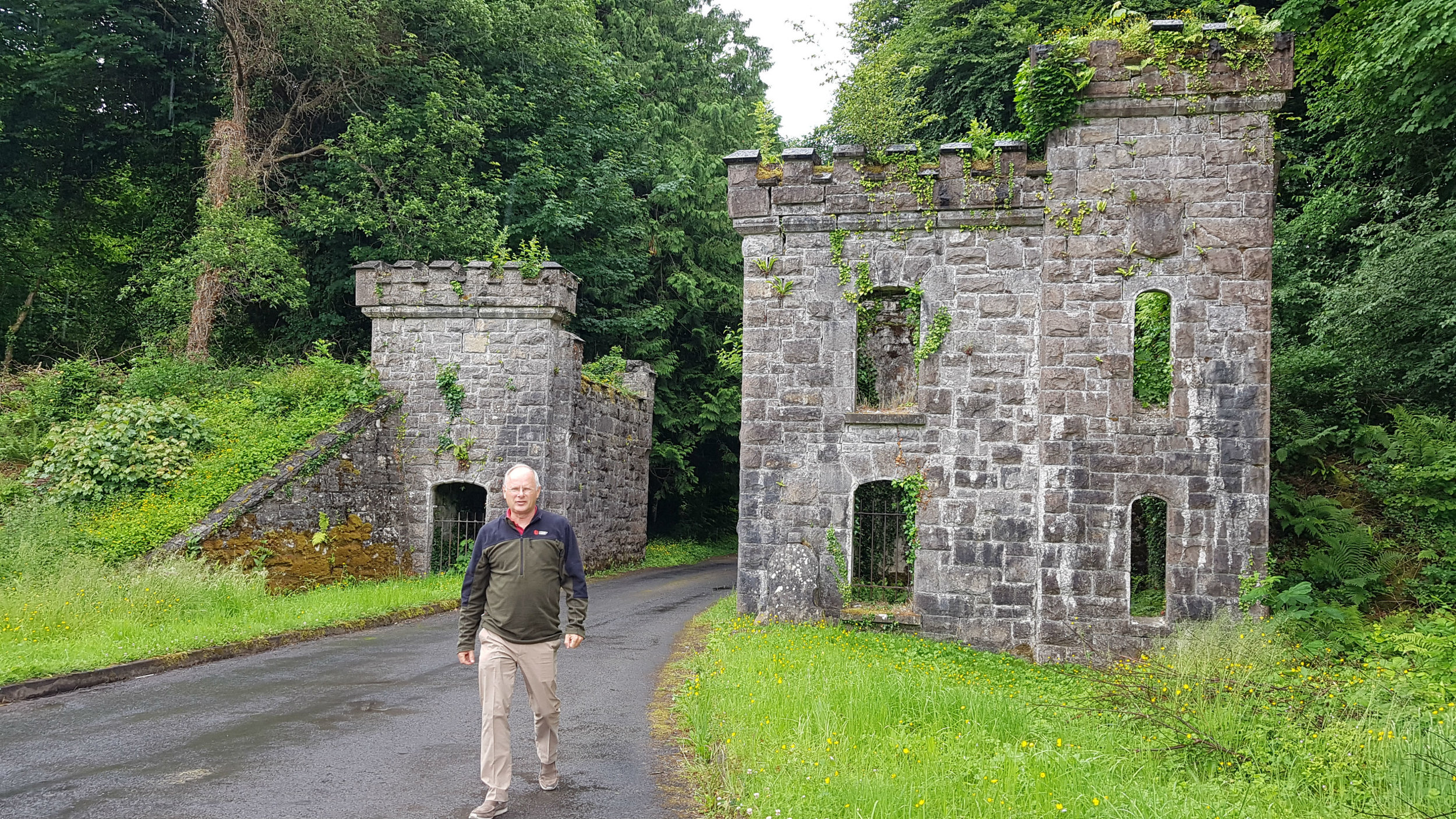 Gate to Castle Caldwell on Lough Erne