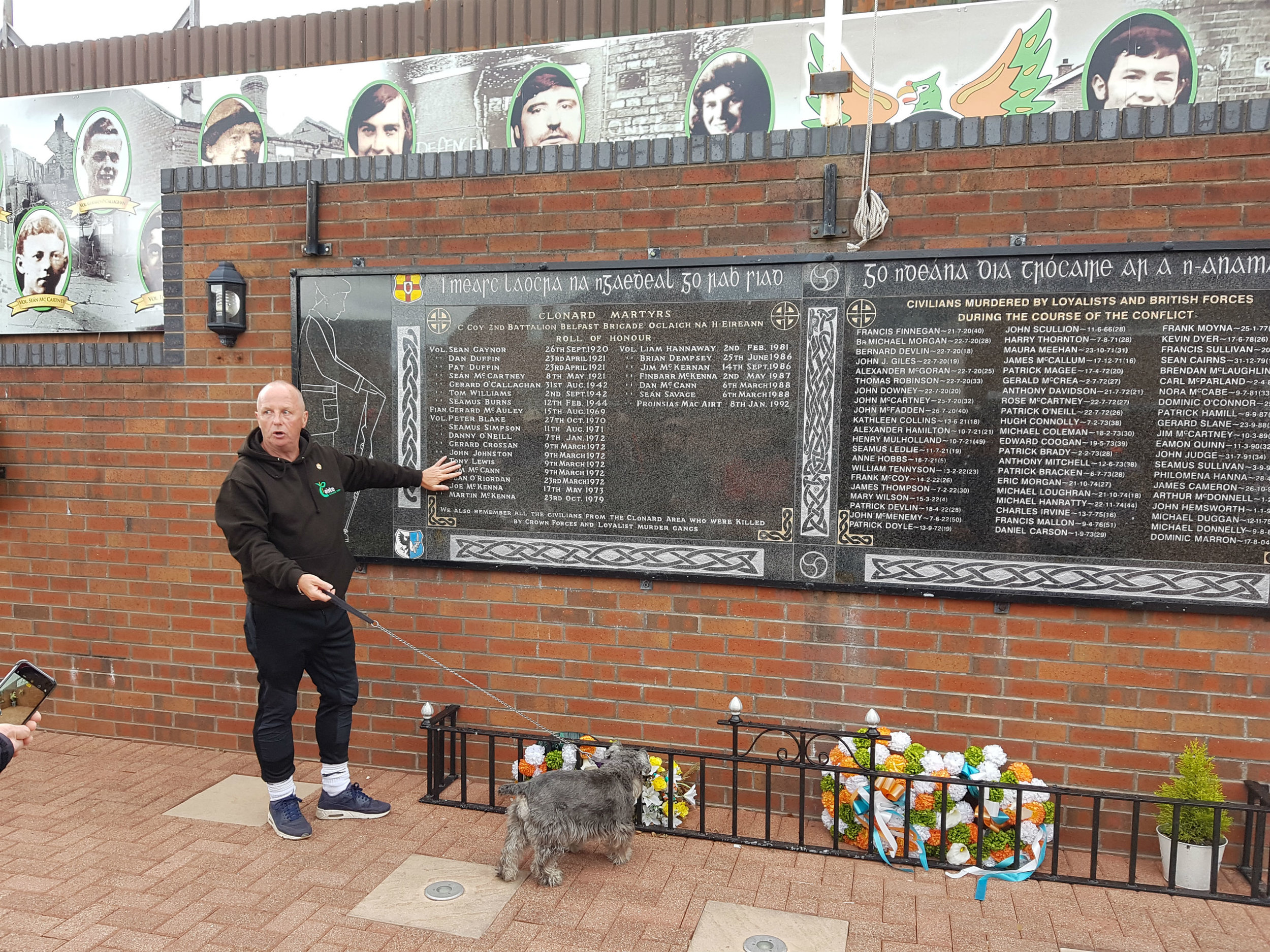 Our guide explaining a memorial for IRA fighters and civilians
