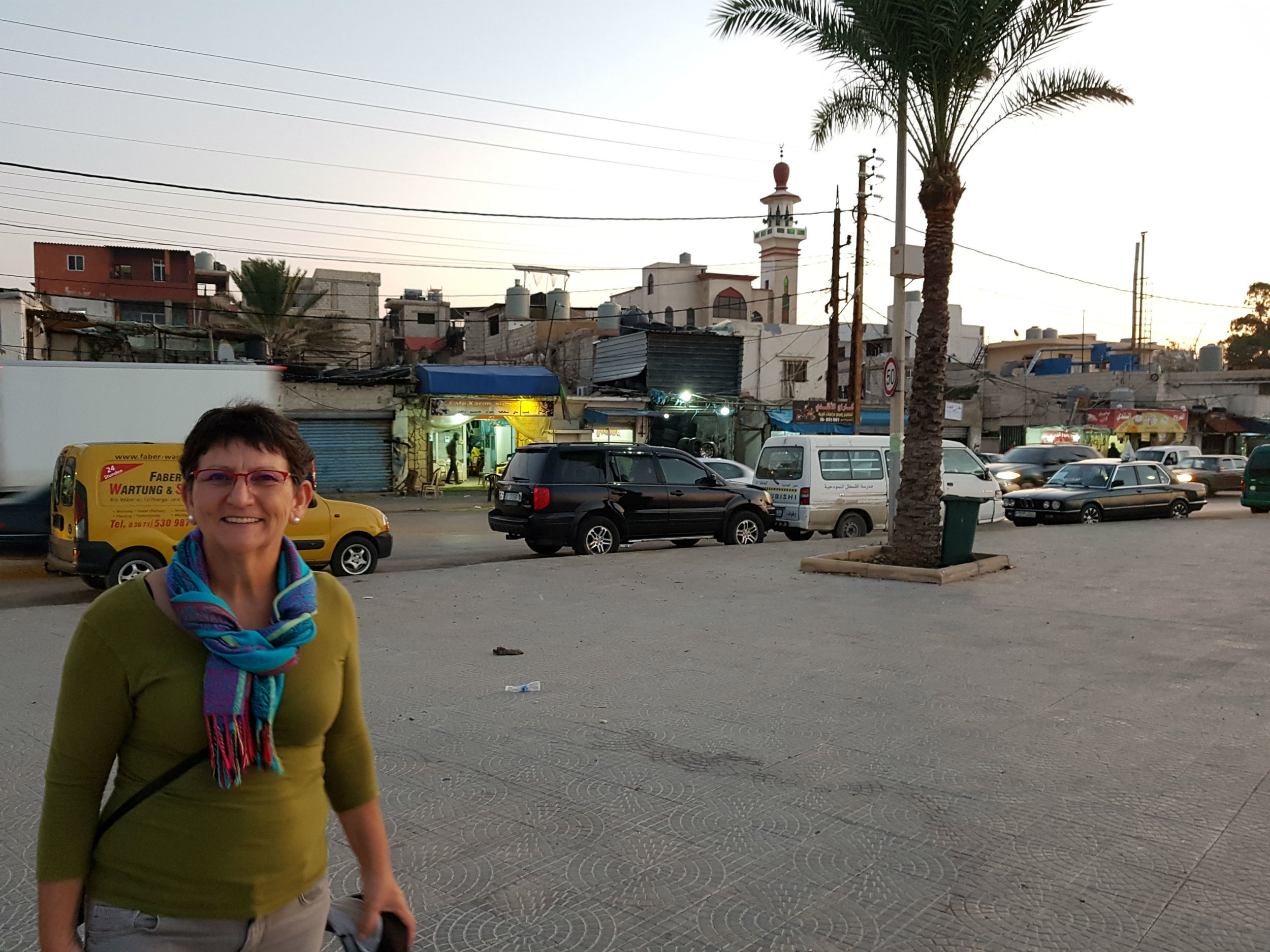 In front of one Palestinian refugee camp in Tyre