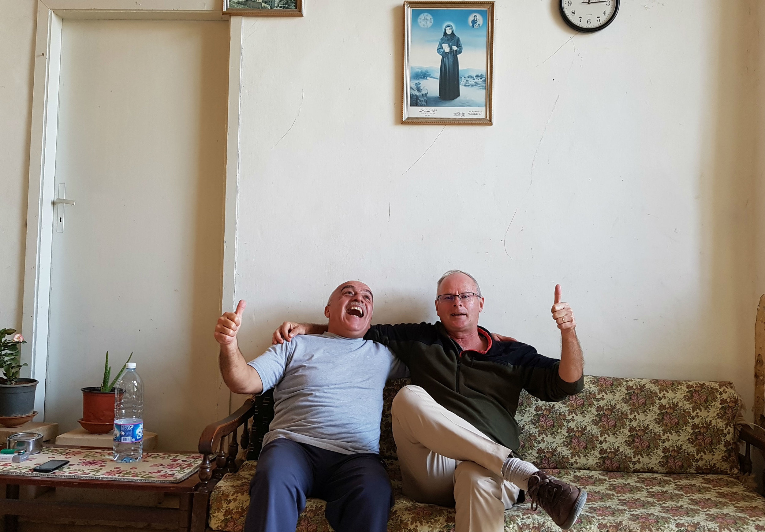 Abdu enjoying our visit in his home...