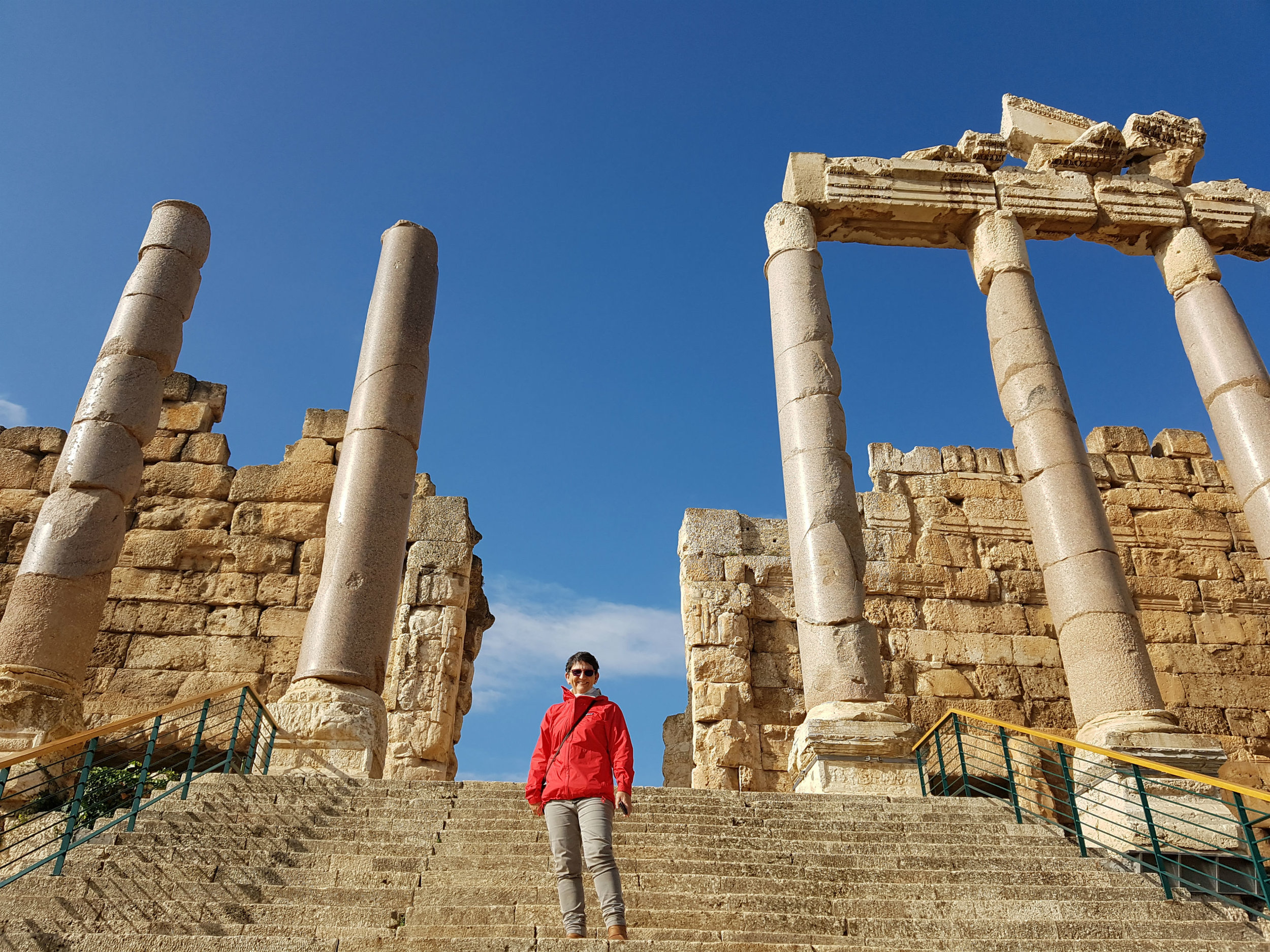 The steps leading to the Propylaea