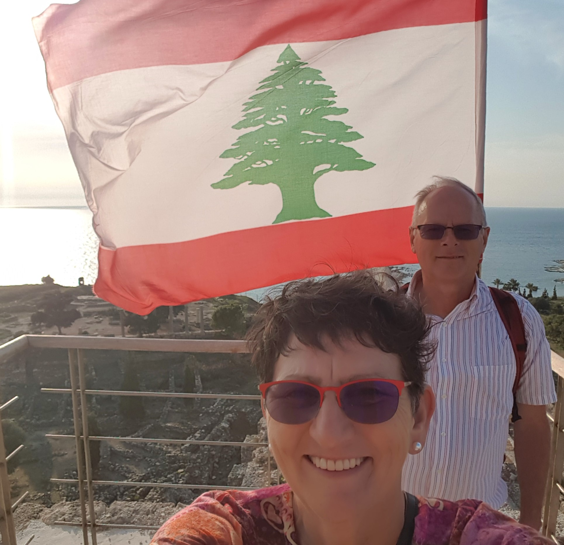 On top of the citadel in Byblos