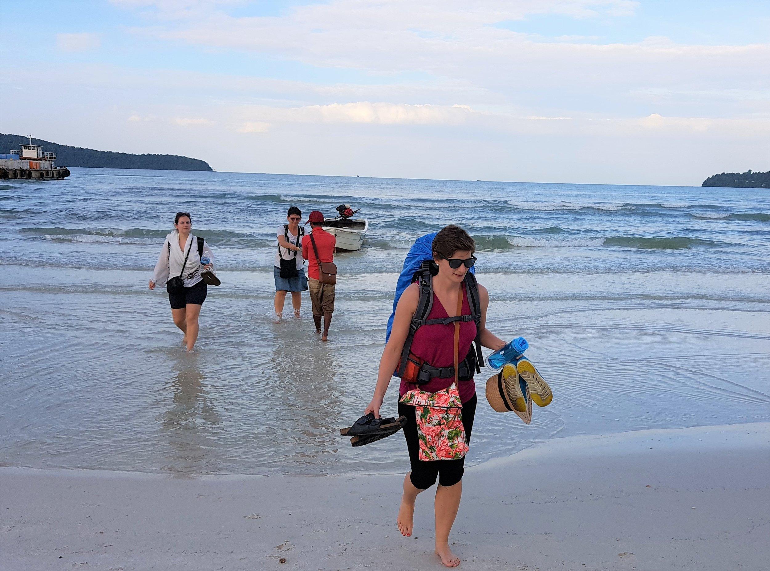 Arriving at Koh Rong Samloem island