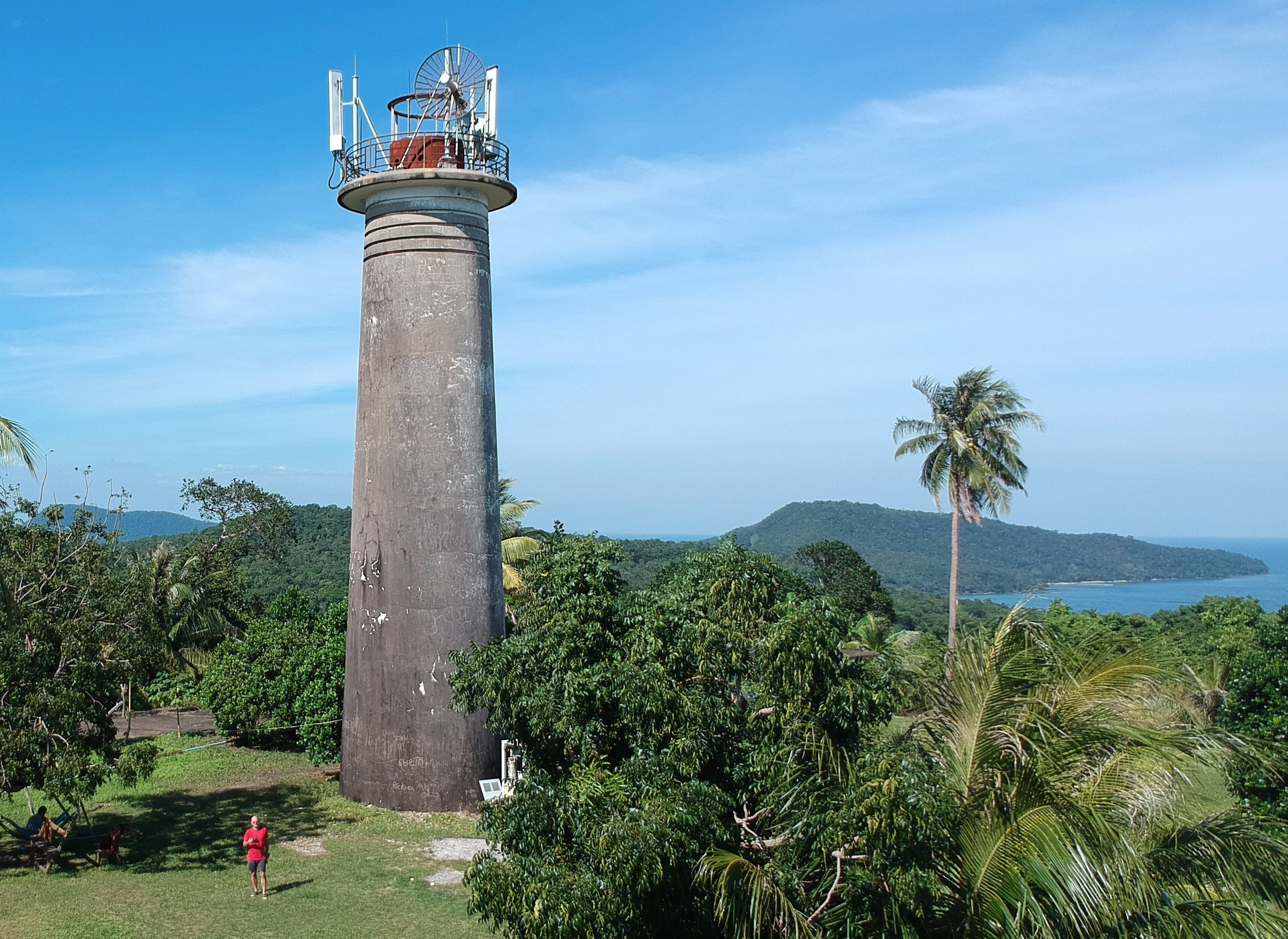 Abandoned lighthouse (18 meters high) built by the French