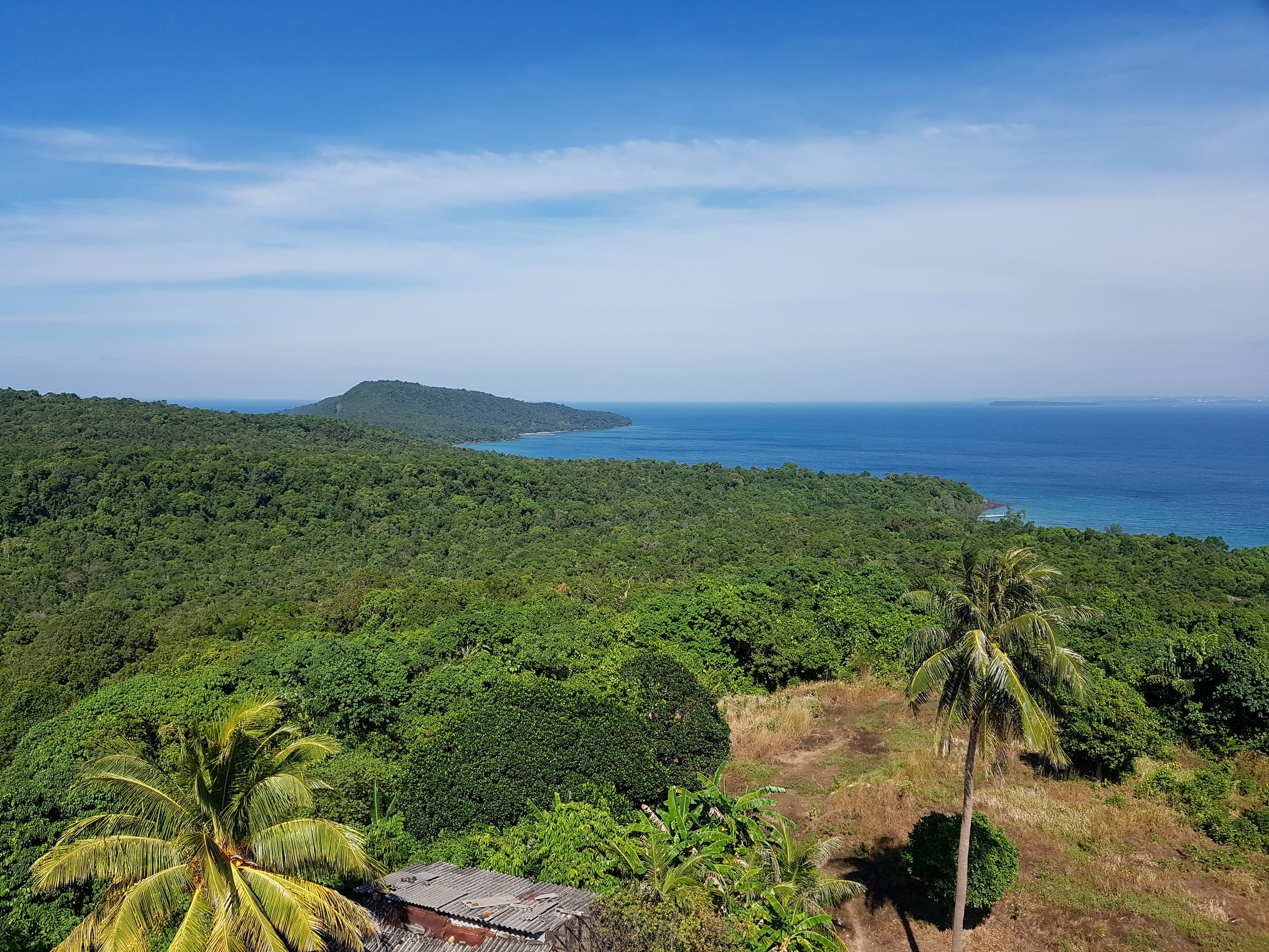 View from the lighthouse on Koh Rong Samloem island
