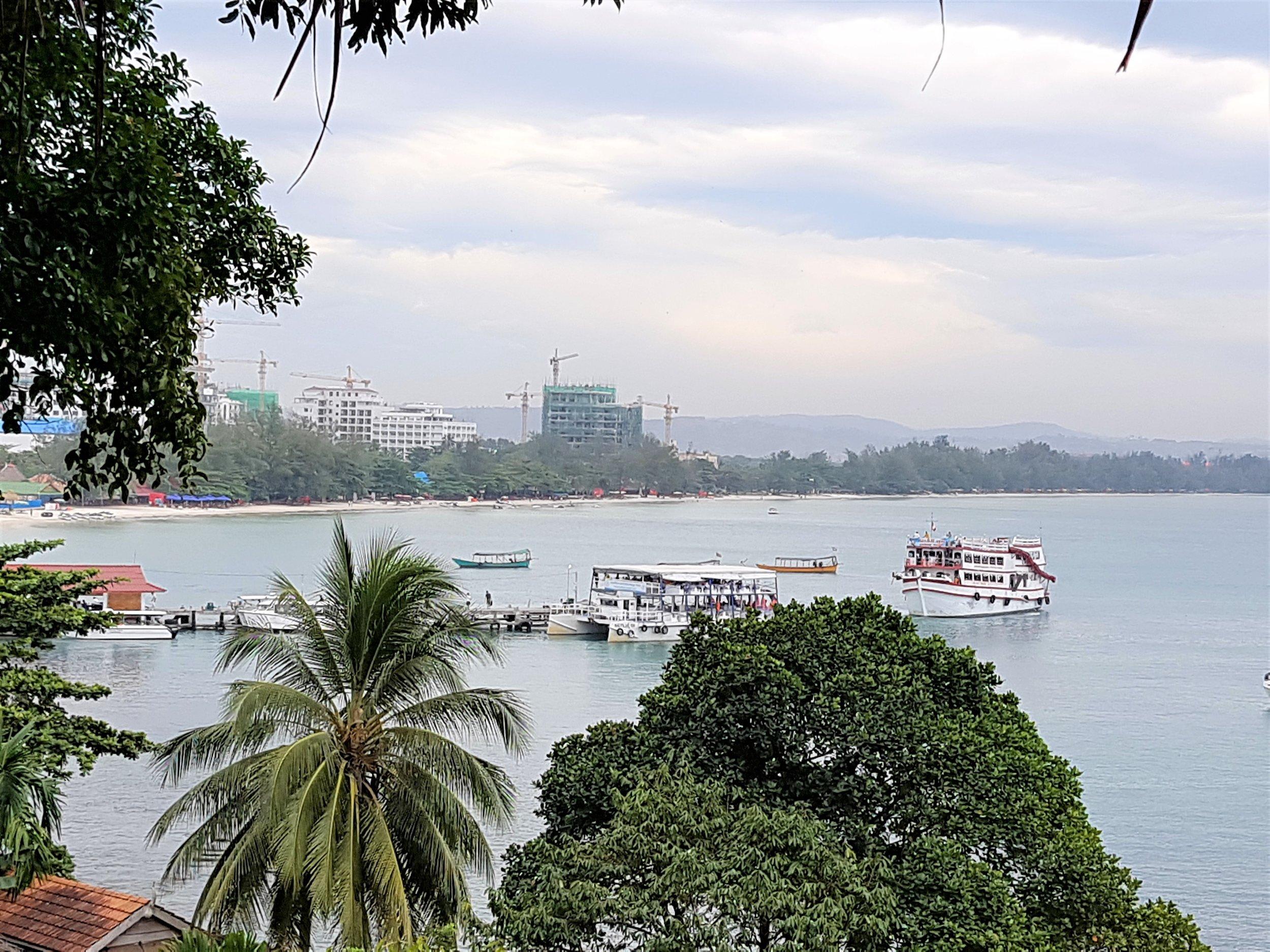 Building cranes dominate Sihanoukville skyline