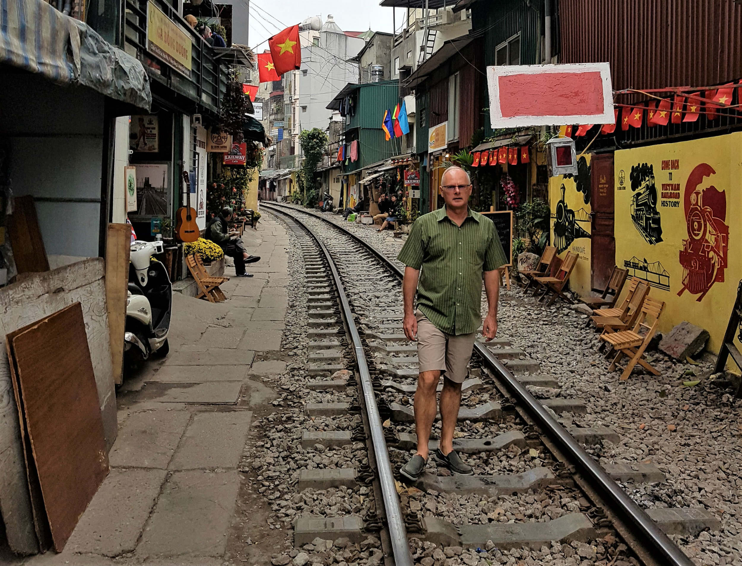 Main railway track to China