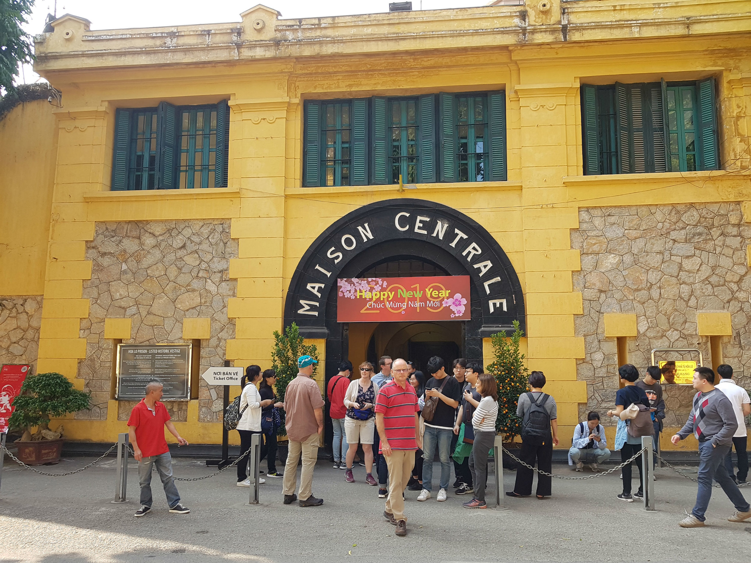 Entrance to the Hoa Lo Prison museum