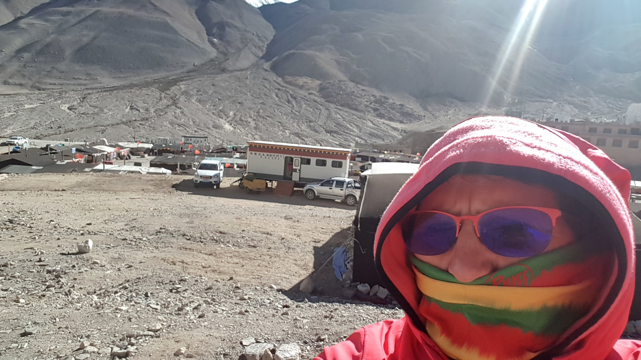 Cold wind blowing in the Everest Base Camp