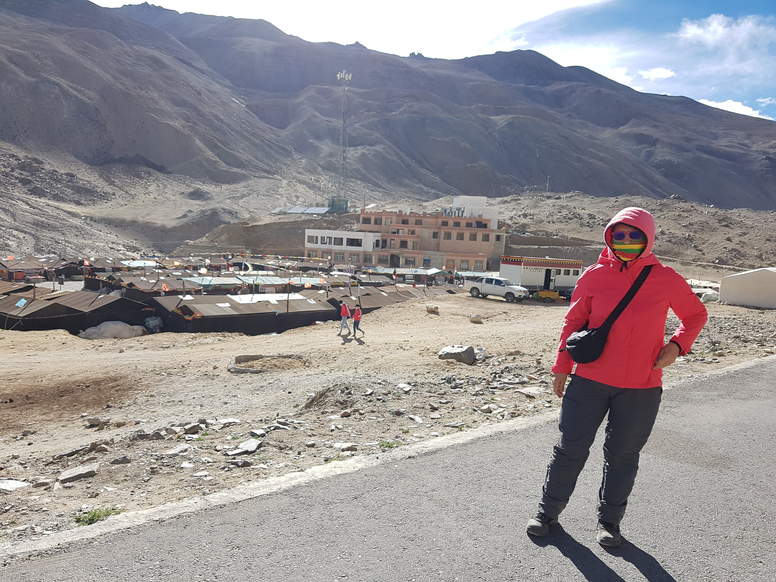 Francien at the Everest Base Camp