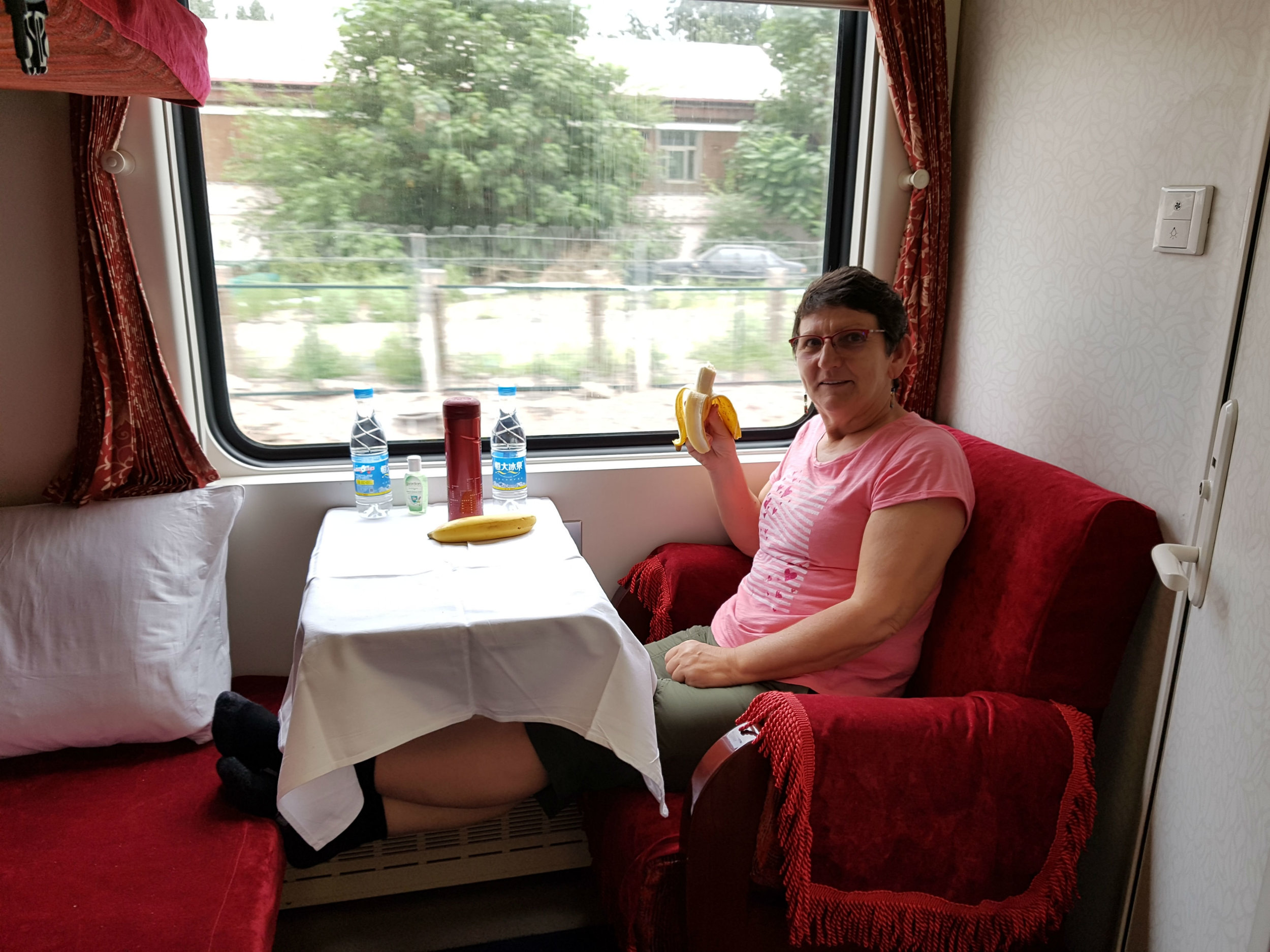 Our compartment in the Trans Mongolia Train