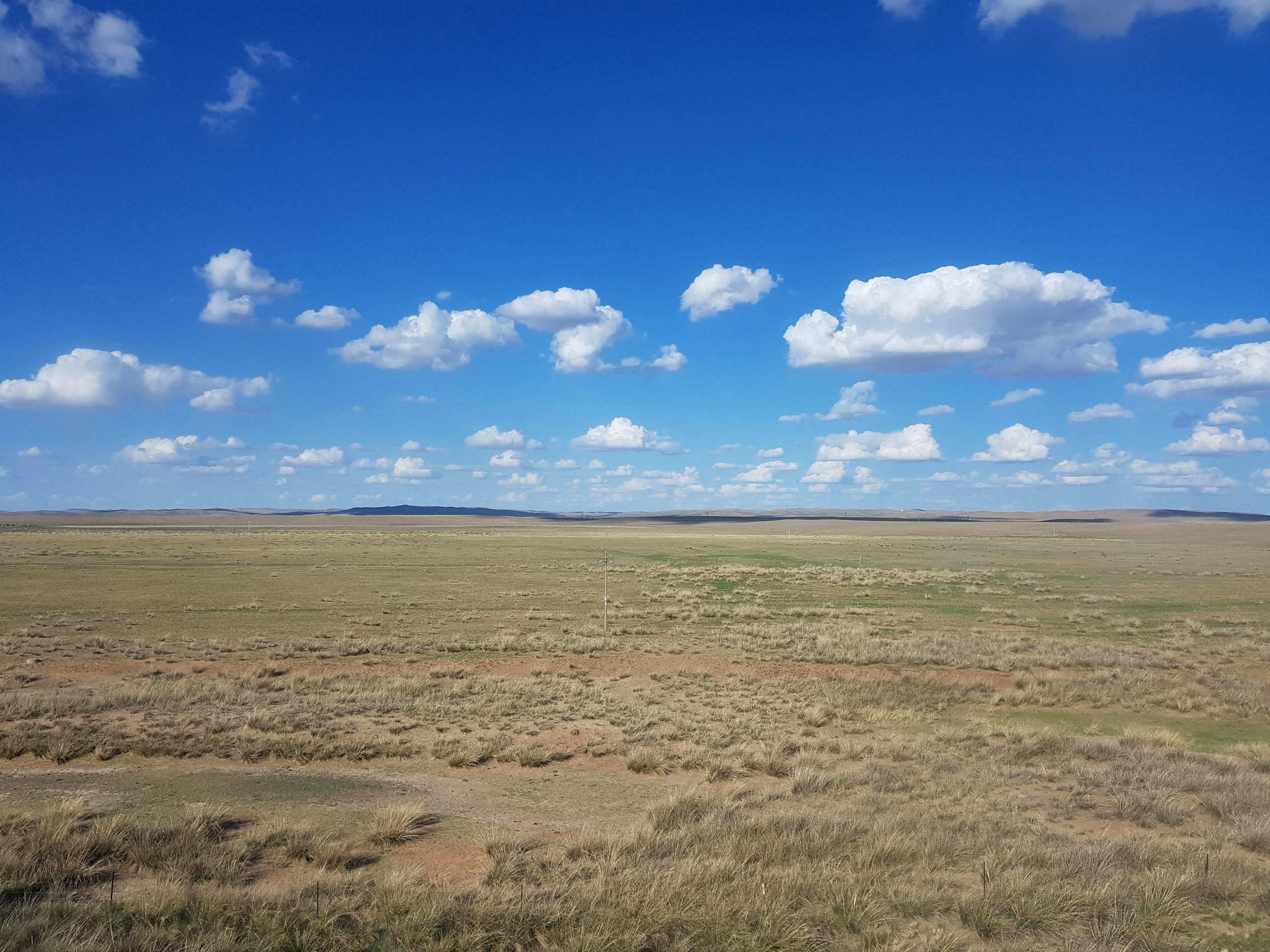 Mongolian steppe - just look at all that space