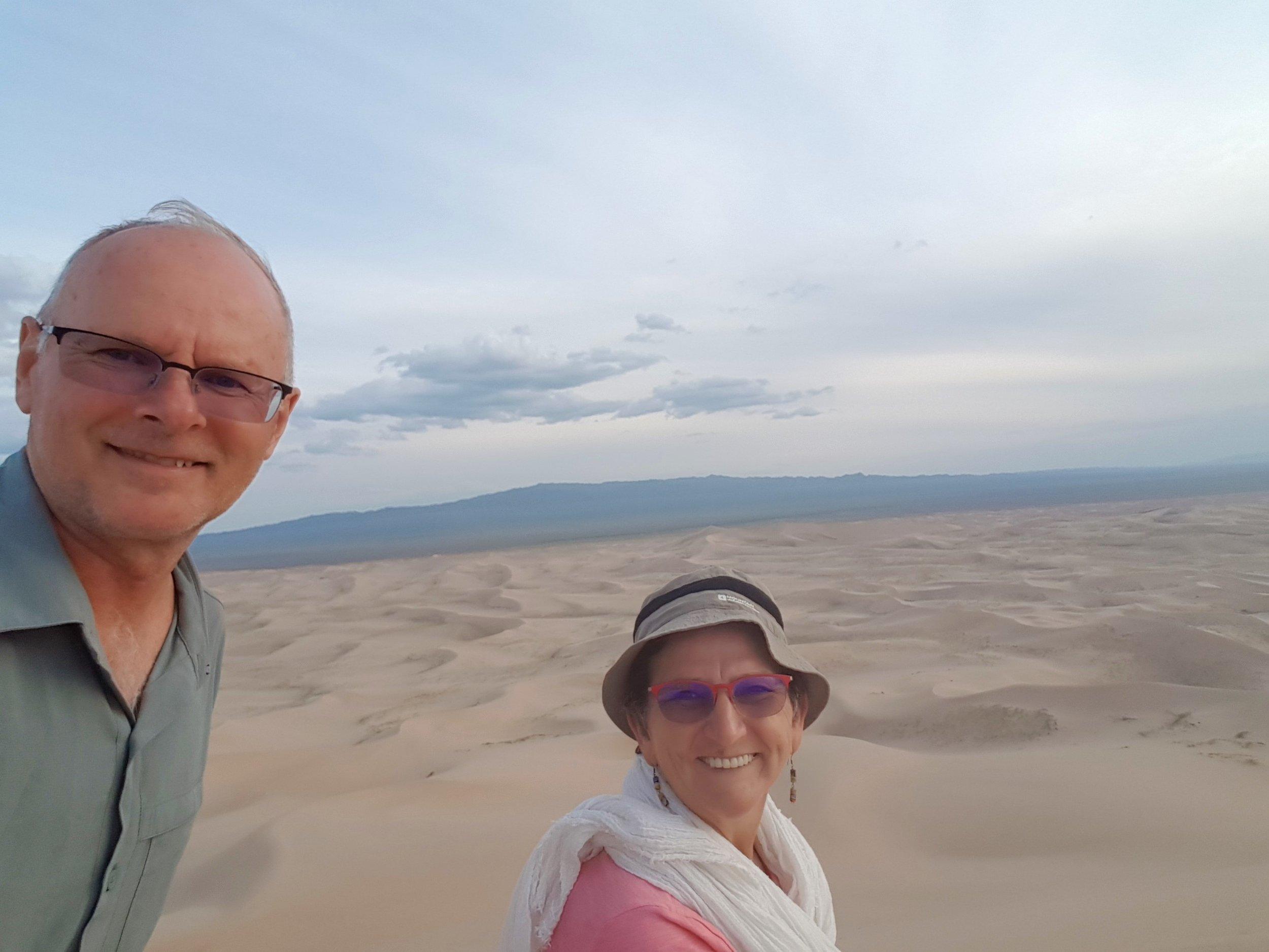 On top of the Khongoryn Els sand dunes
