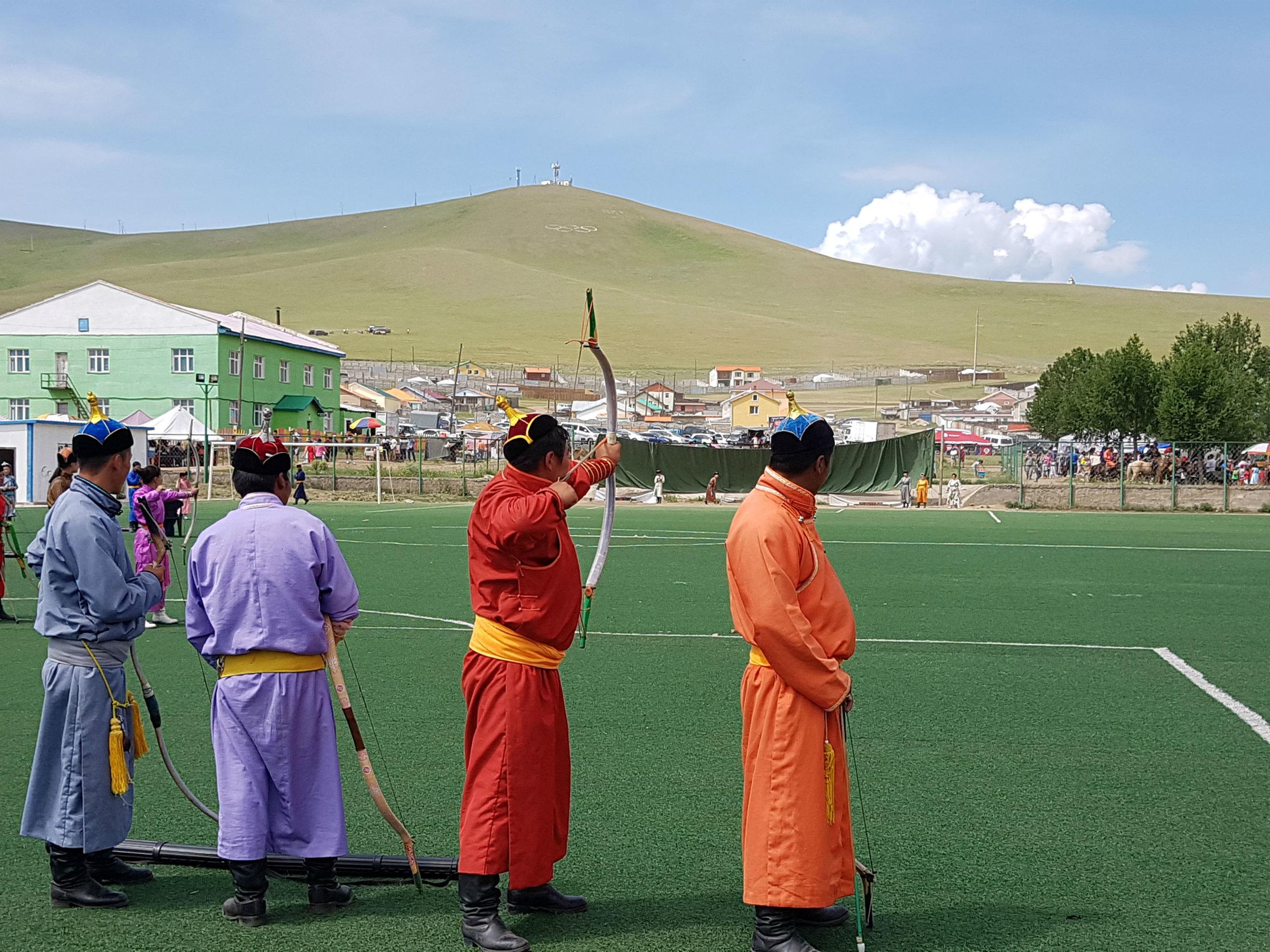 Archery tournament as part of Naadam