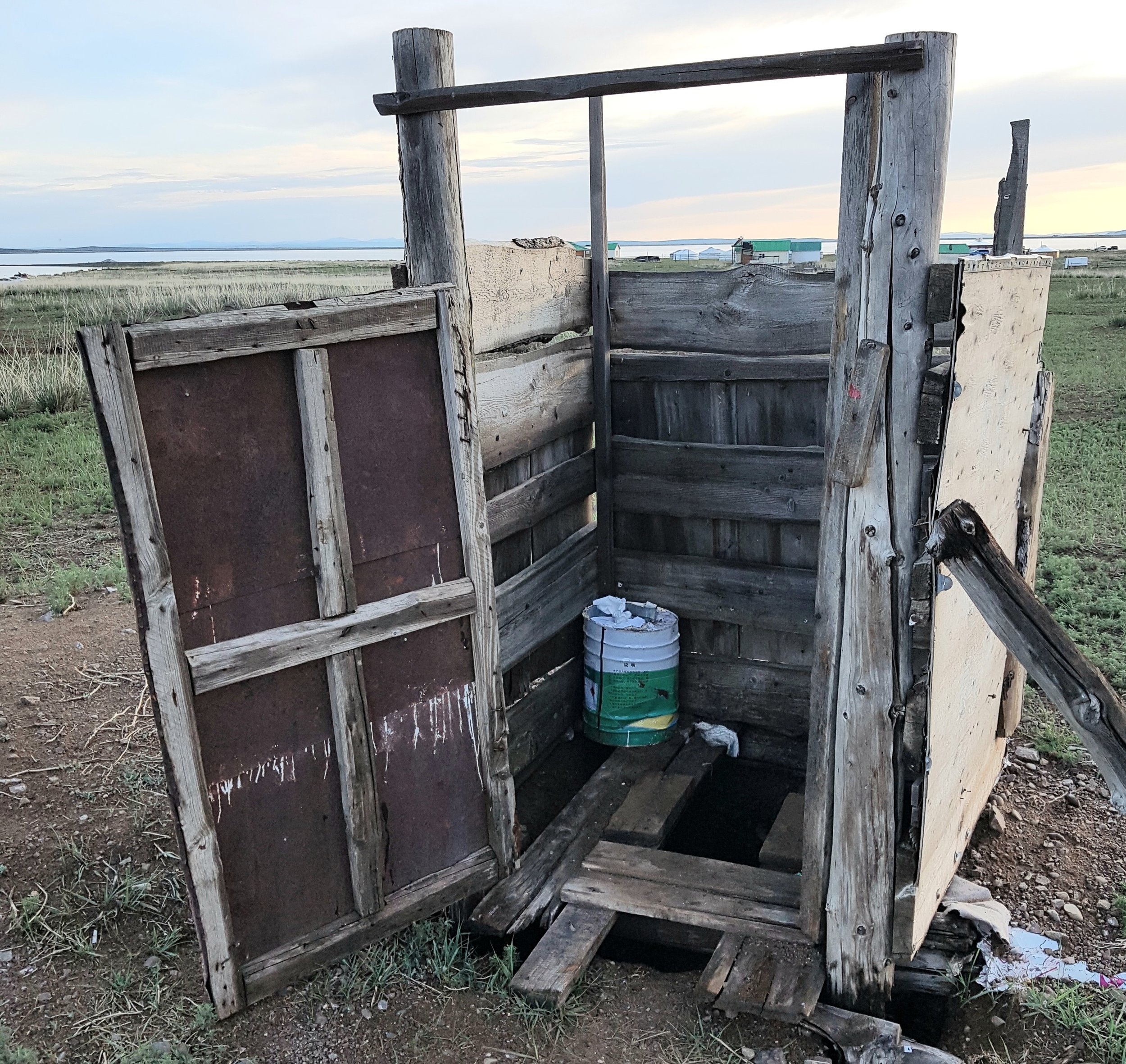 A pit latrine you did NOT want to use...