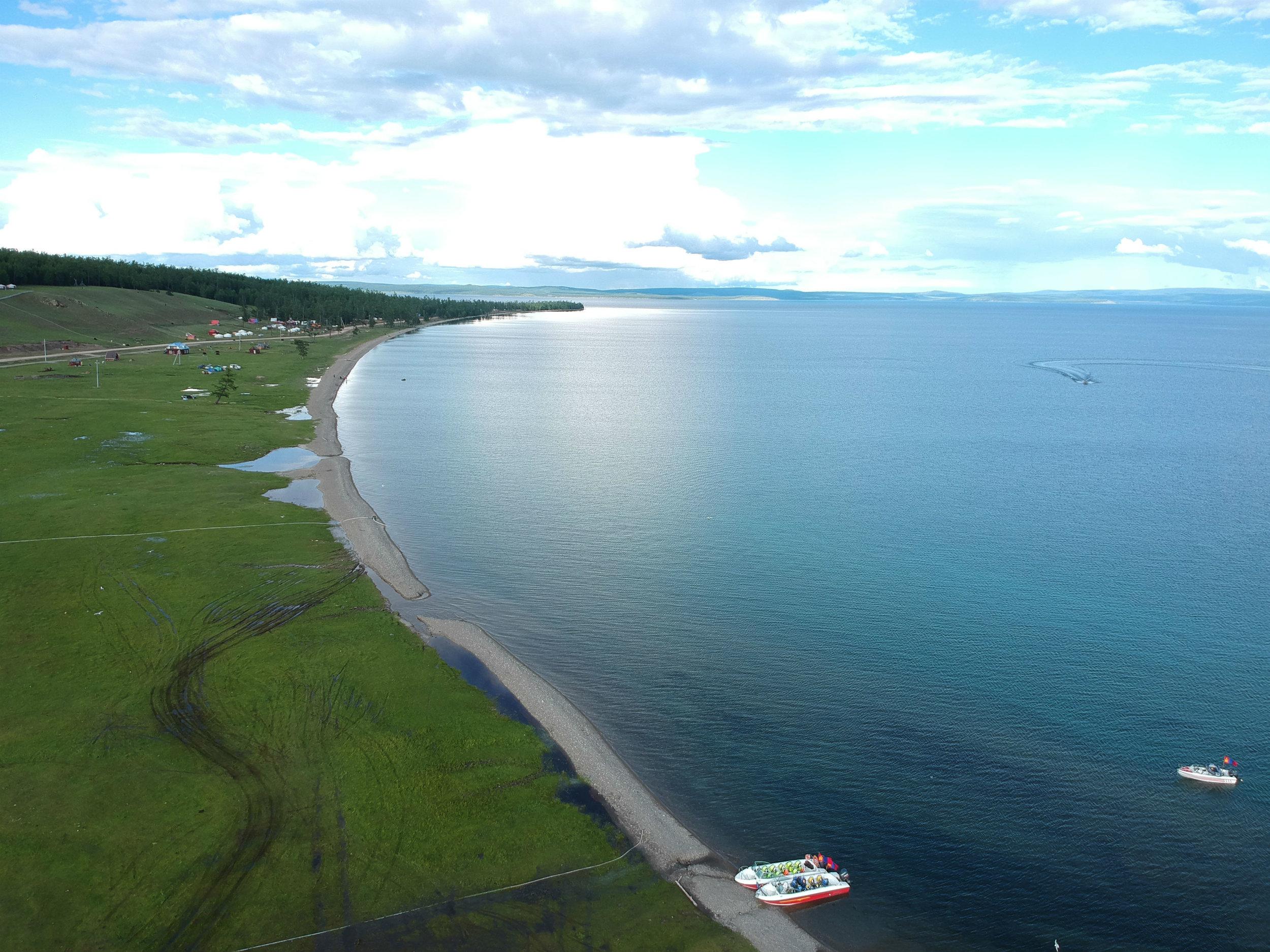 Khuvsgul Lake 250 km from the Russian border