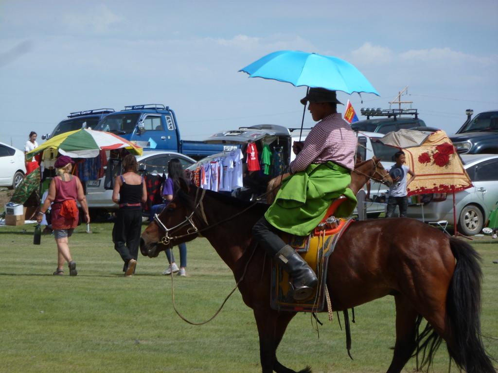 Visiting the Naadam festival on horseback