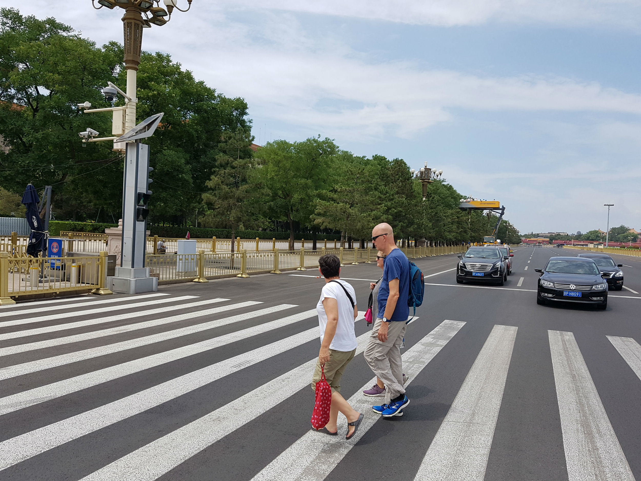 Crossing from Tiananmen Square to the Great Hall of the People