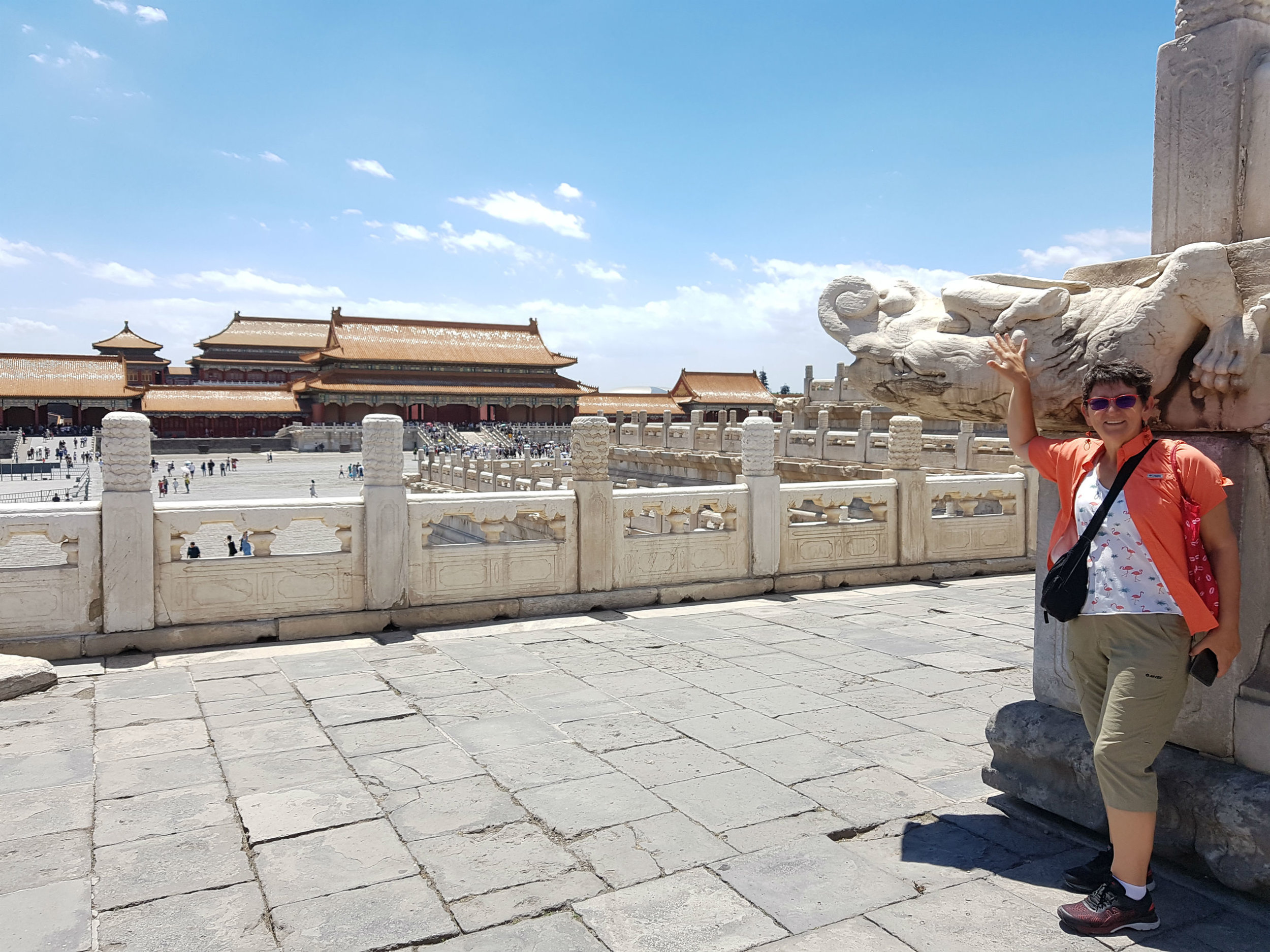 I took this snapshot inside the Forbidden City when the hordes of tourists didn't block our view