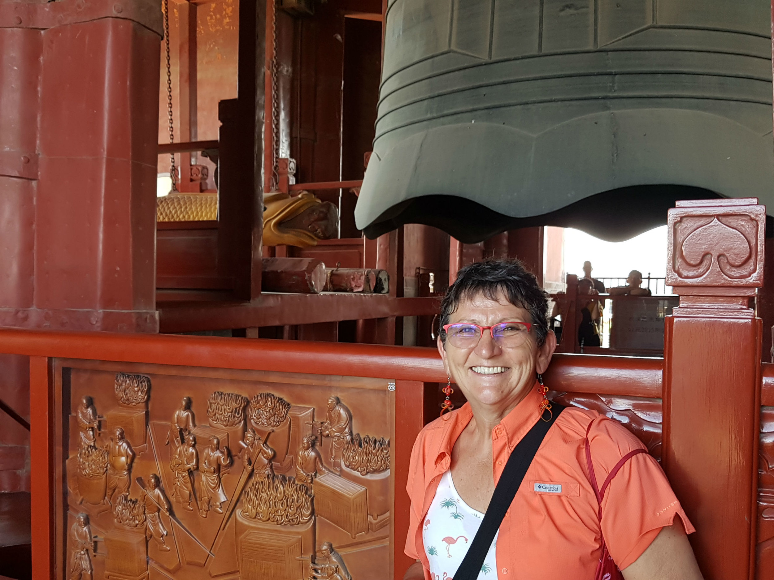 Inside the ancient drum-bell tower in Beijing