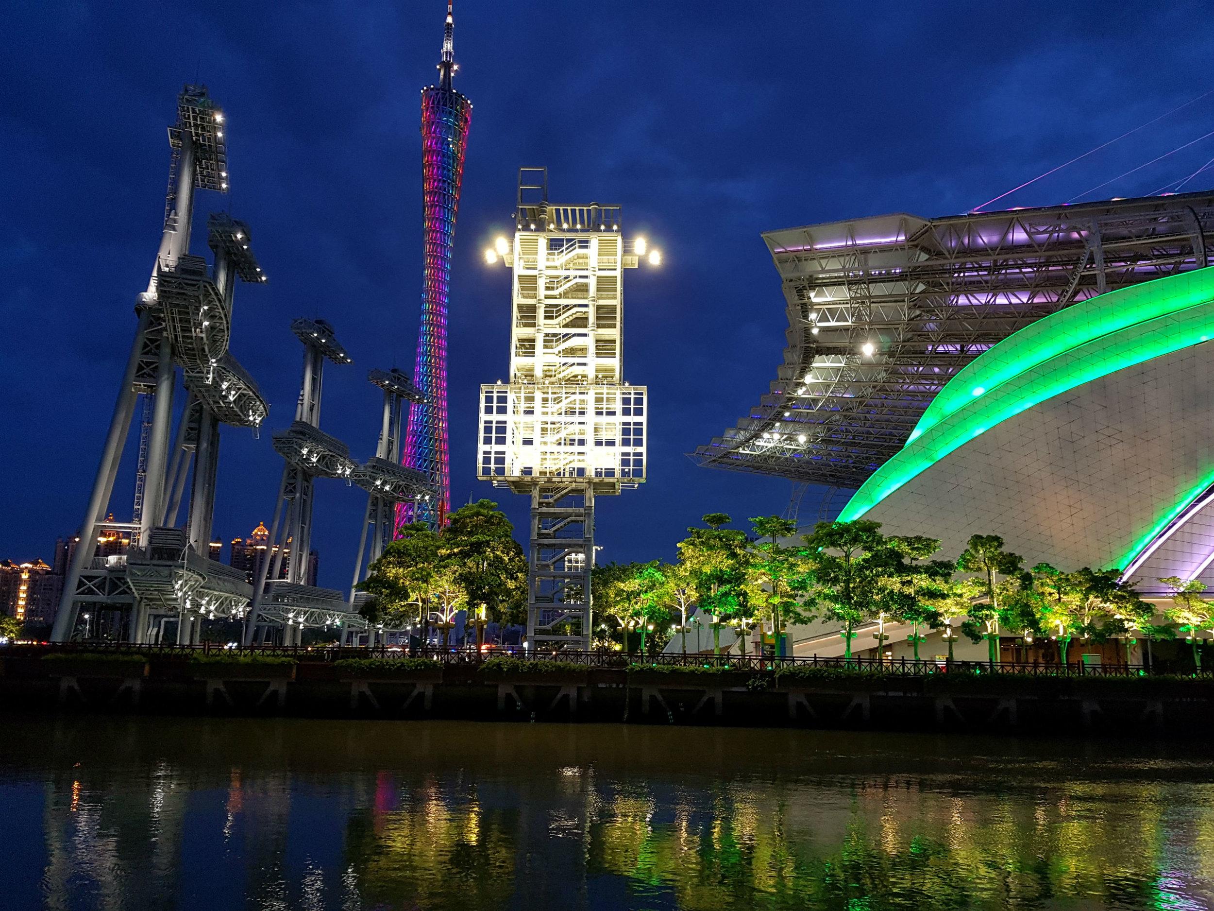 Guangzhou at night - it has a modern feel to it