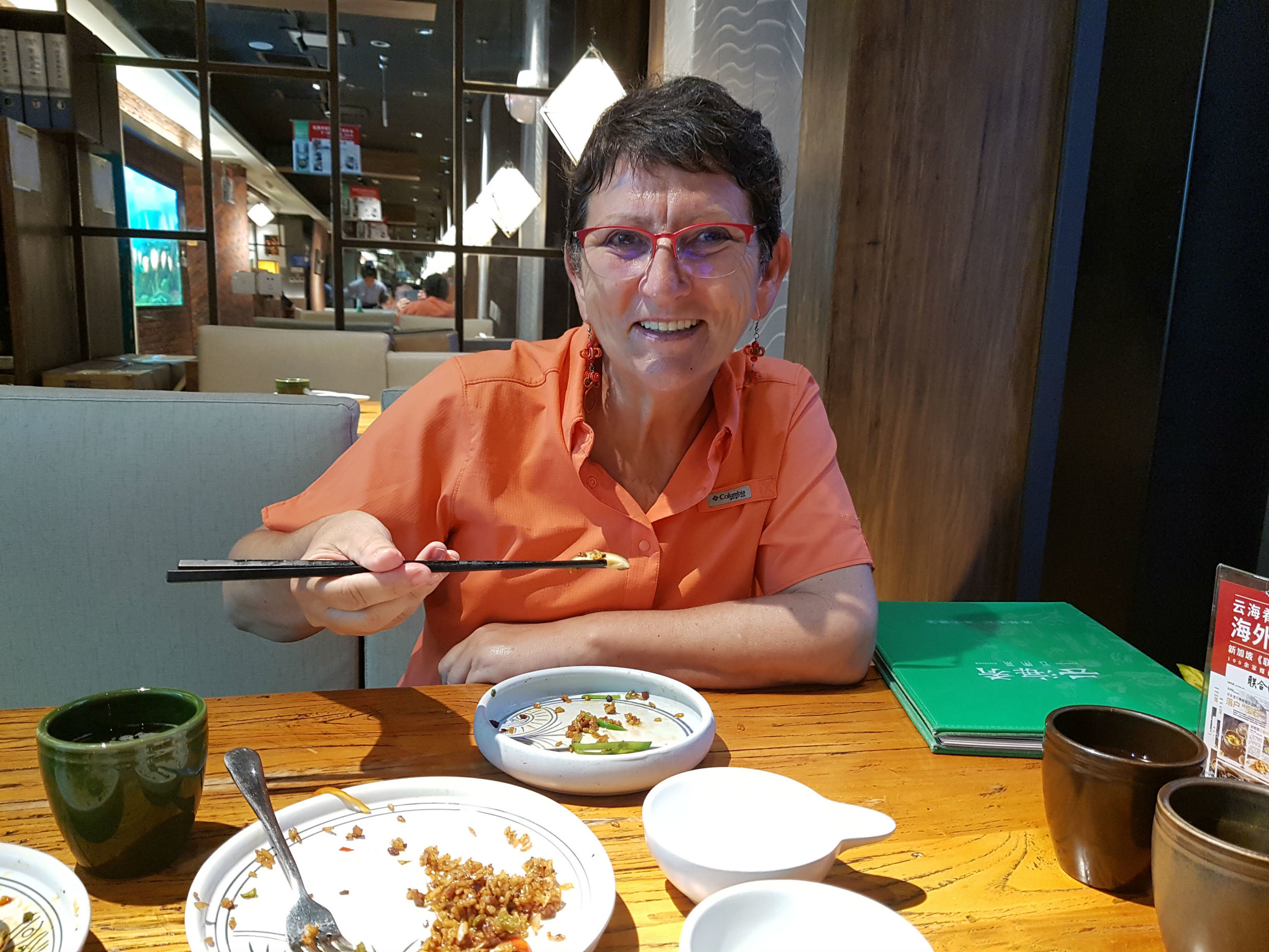 Enjoying noodles in Lanzhou