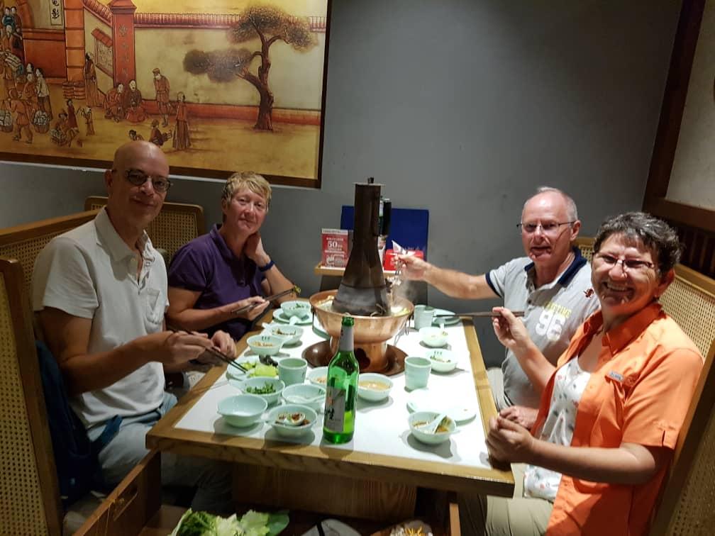 Hotpot dinner with Berry, Pamela, Francien and Frank in Beijing