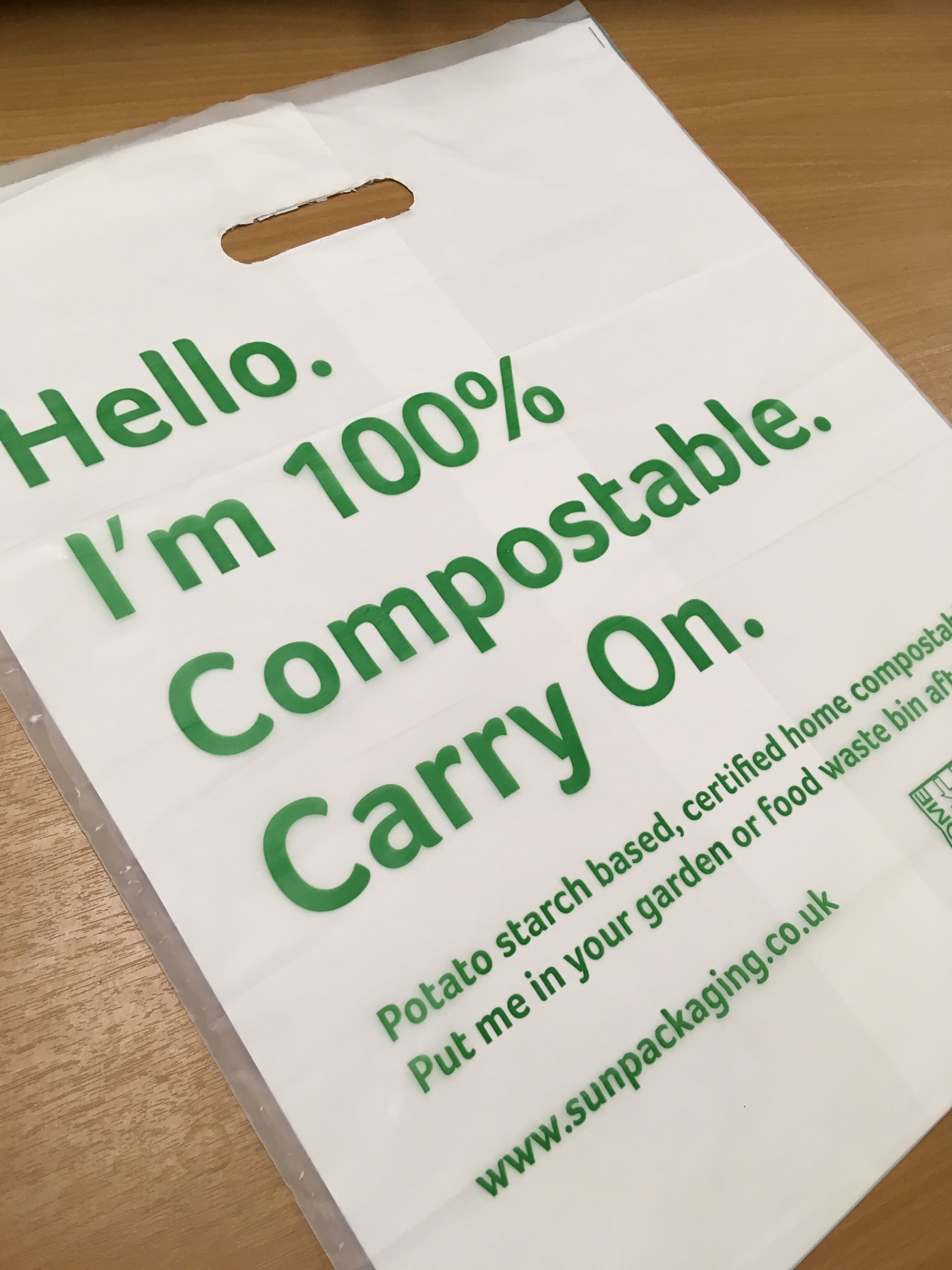 100% Compostable Carrier Bag