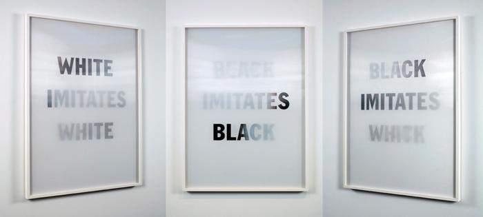 White Imitates Black, (multiple views) 2009.jpg