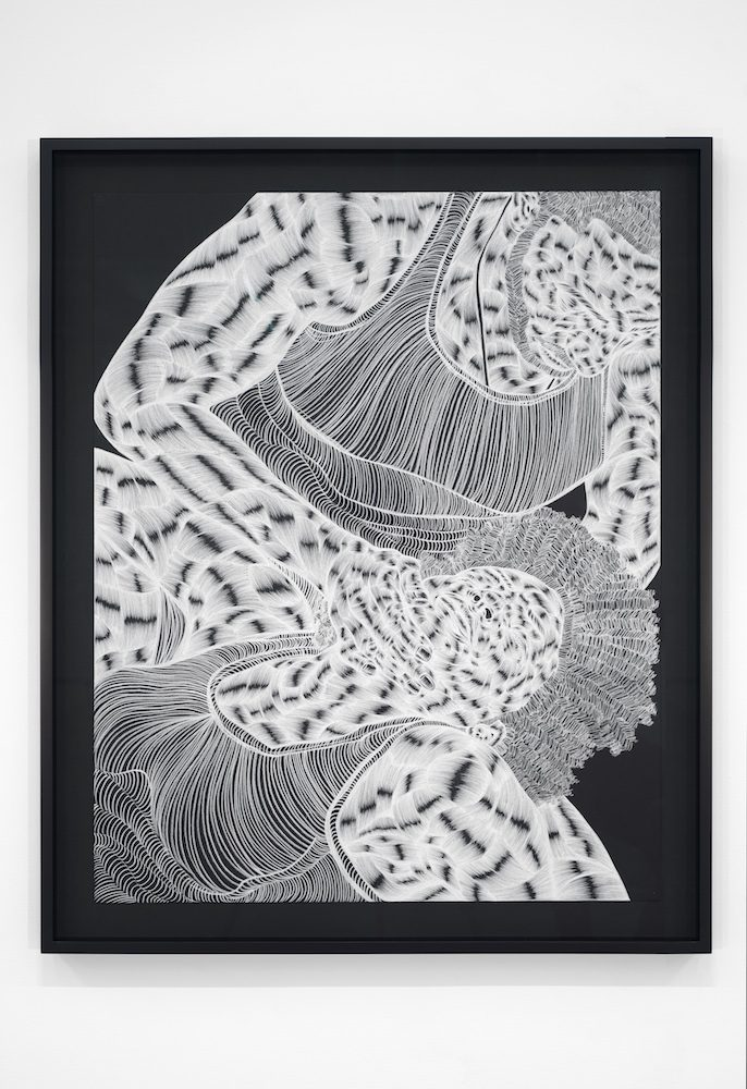 Toyin Ojih Odutola, Melting Into Texture or The Future Grown Impatient , 2015