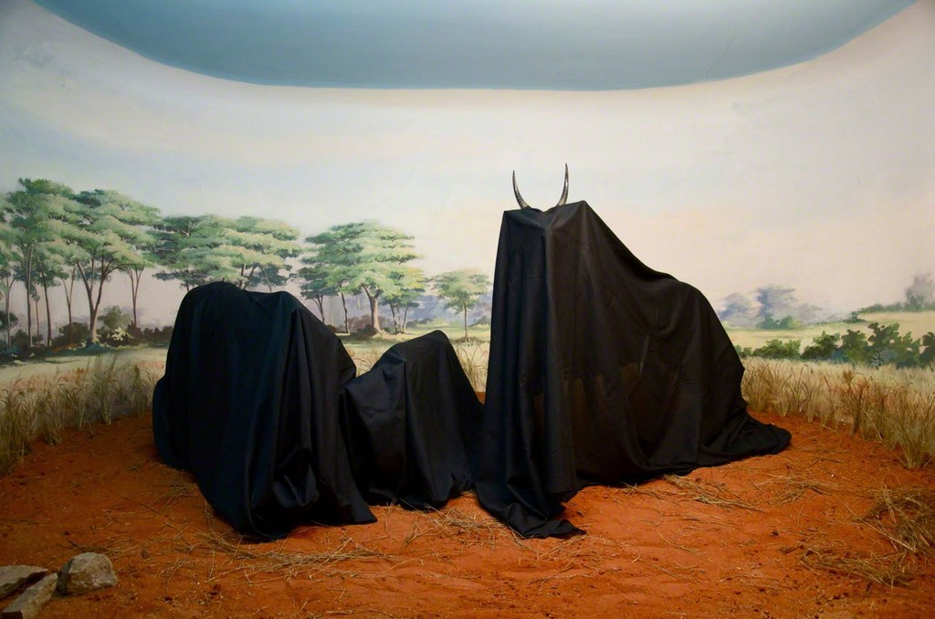 In the Days of a Dark Safari #1, 2017  Above:The Last Journey of the Dictator Mussunda Nzombo Before the Great Extinction (Act II), 2017