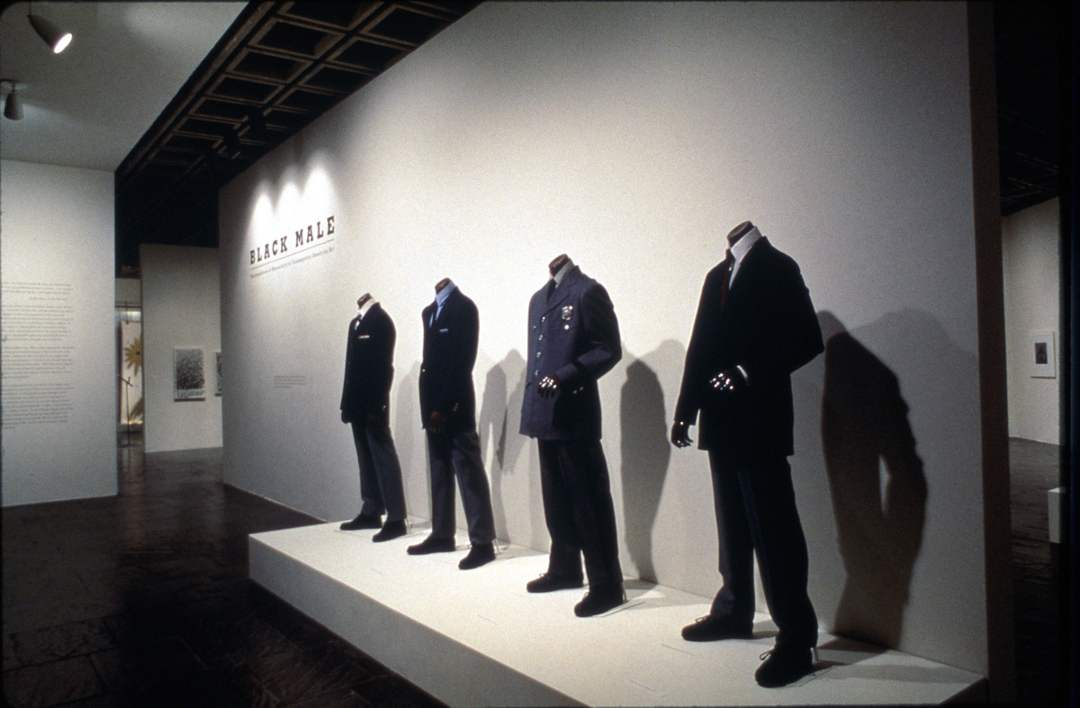 Installation view of  Black Male: Representations of Masculinity in American Art  at the Whitney Museum, 19494.  Above:Photo by Timothy Greenfield-Sanders