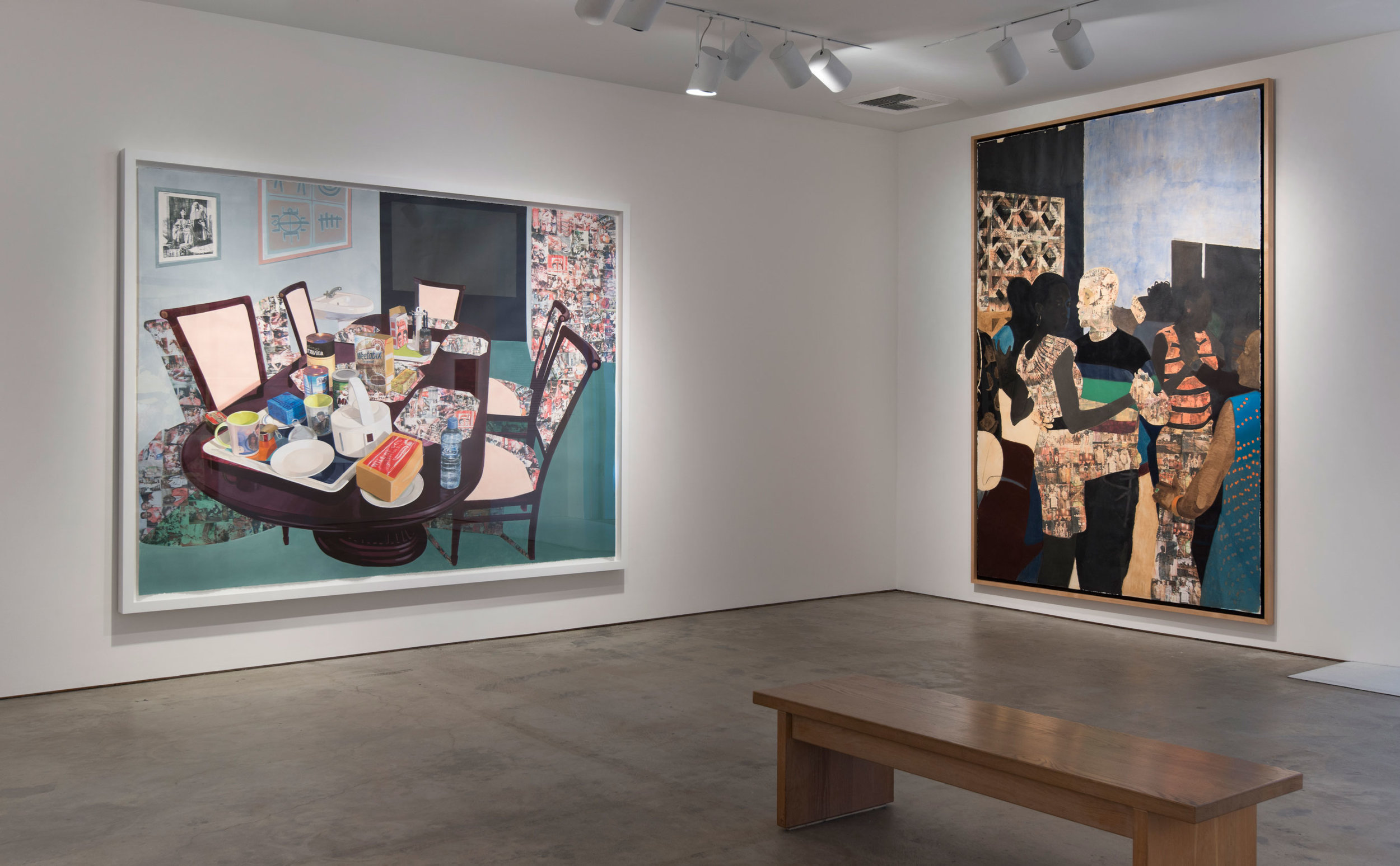 Hammer Projects: Njideka Akunyili Crosby. Installation view, Hammer Museum, Los Angeles, October 3, 2015–January 10, 2016. Photo: Brian Forrest.