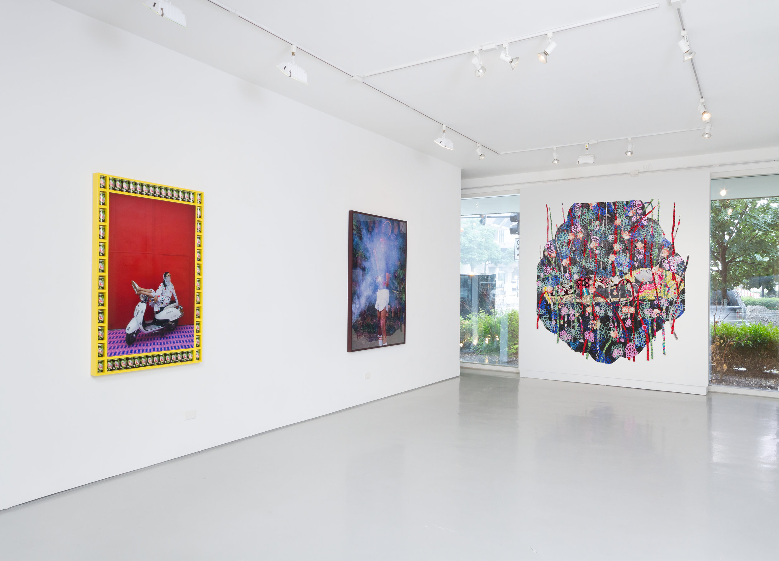 Look At Me Now!  installation view, Monique Meloche Gallery, 2015.  Above: Photo by Mariana Sheppard, Courtesy Crystal Bridges Museum of American Art