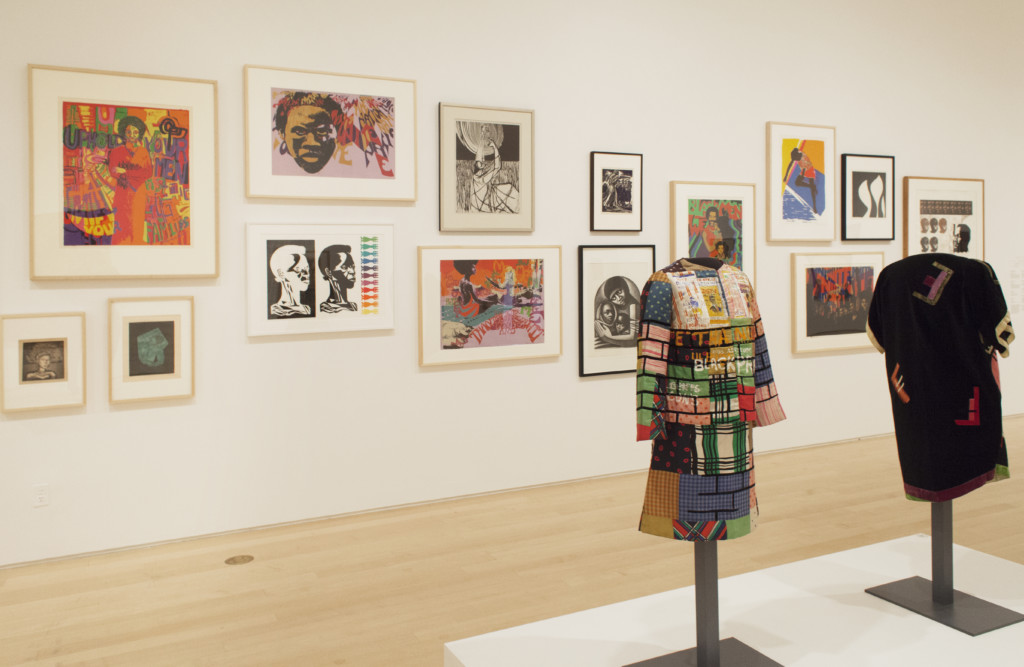 Installation view of We Wanted a Revolution: Black Radical Women , 1965–85 at the Brooklyn Museum, 2017. Photograph by Jonathan Dorado.  Above: Ph: MM. LAFLEUR.