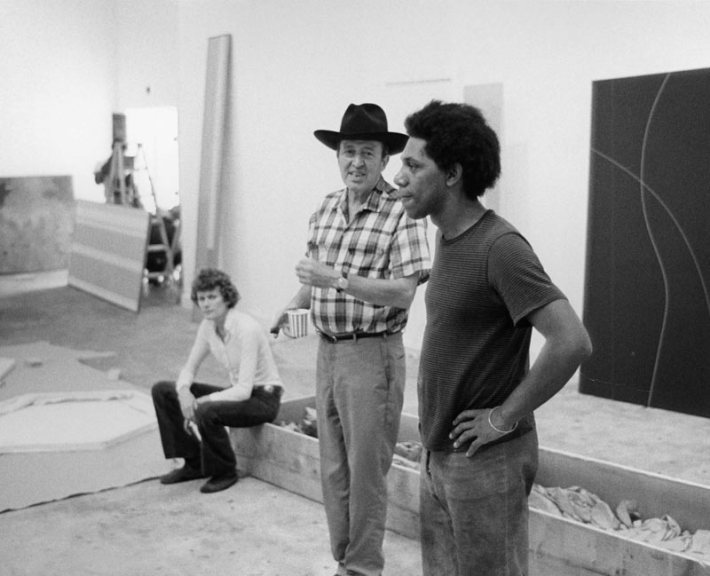 Clement Greenberg (left) and DeLuxe Curator Peter Bradley (right). Featured in  1971: A Year in the Life of Color