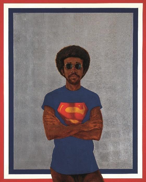 Barkley L. Hendricks, Icon for My Man Superman (Superman Never Saved any Black People – Bobby Seale) 1969.