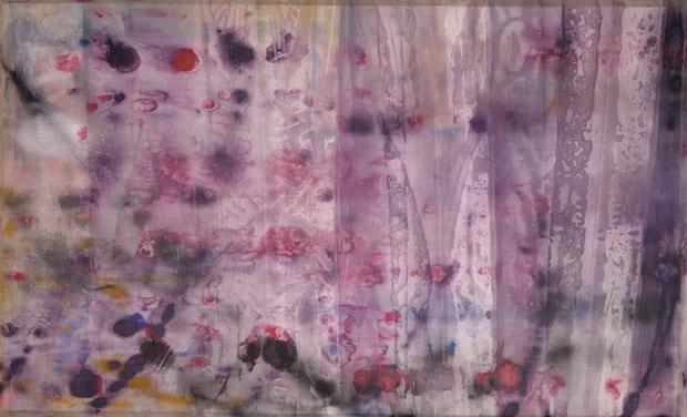 Sam Gilliam,  Curtain of sorrow … April 4. Ph: David Kordansky Gallery