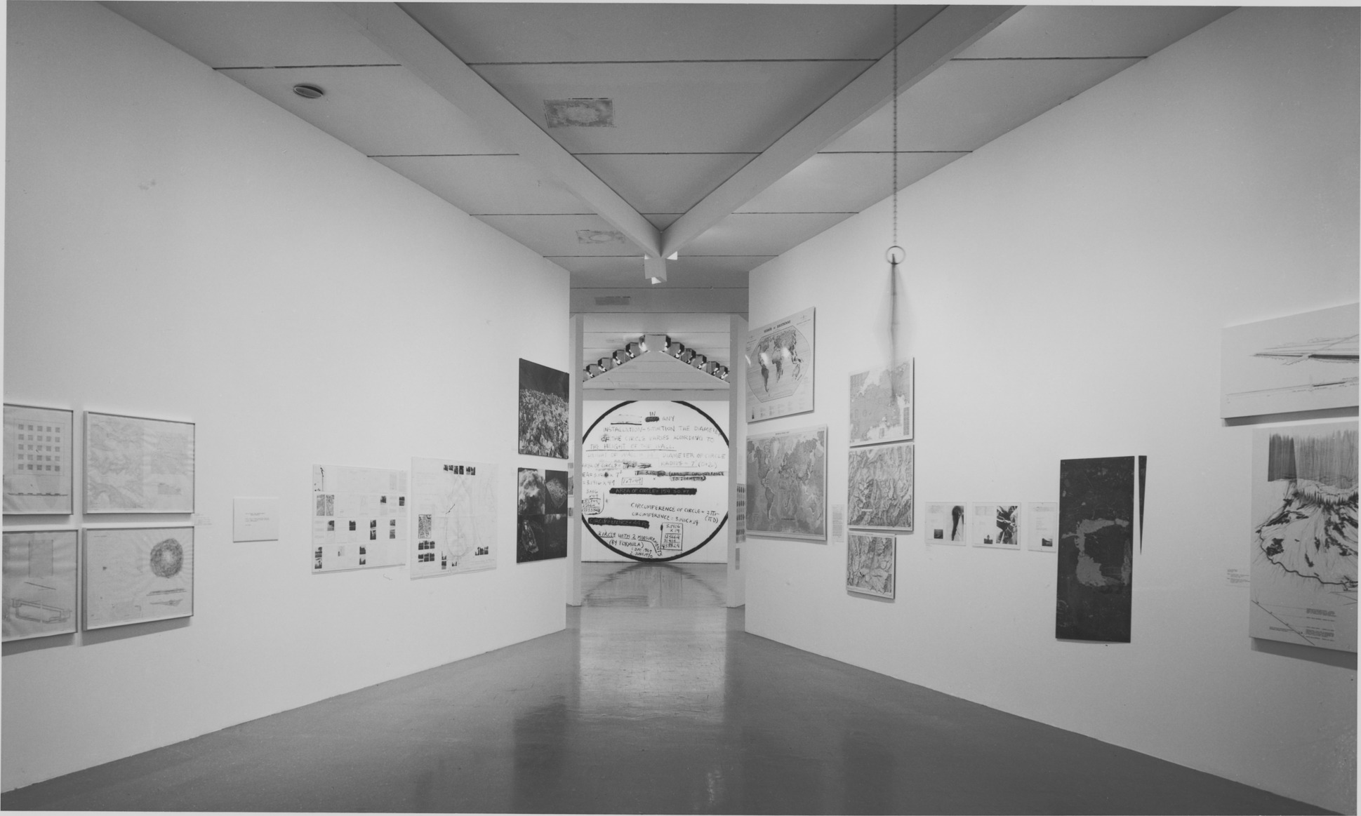 Installation view of  Information  at MoMA, 1970.