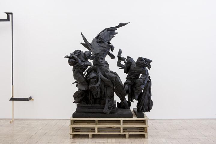 Wim Botha, Prism 10 (Dead Laocoön), 2014. Featured in  The Divine Comedy – Heaven, Hell, Purgatory by Contemporary African Artists  at Museum für Moderne Kunst, Frankfurt. PH: Axel Schneider.