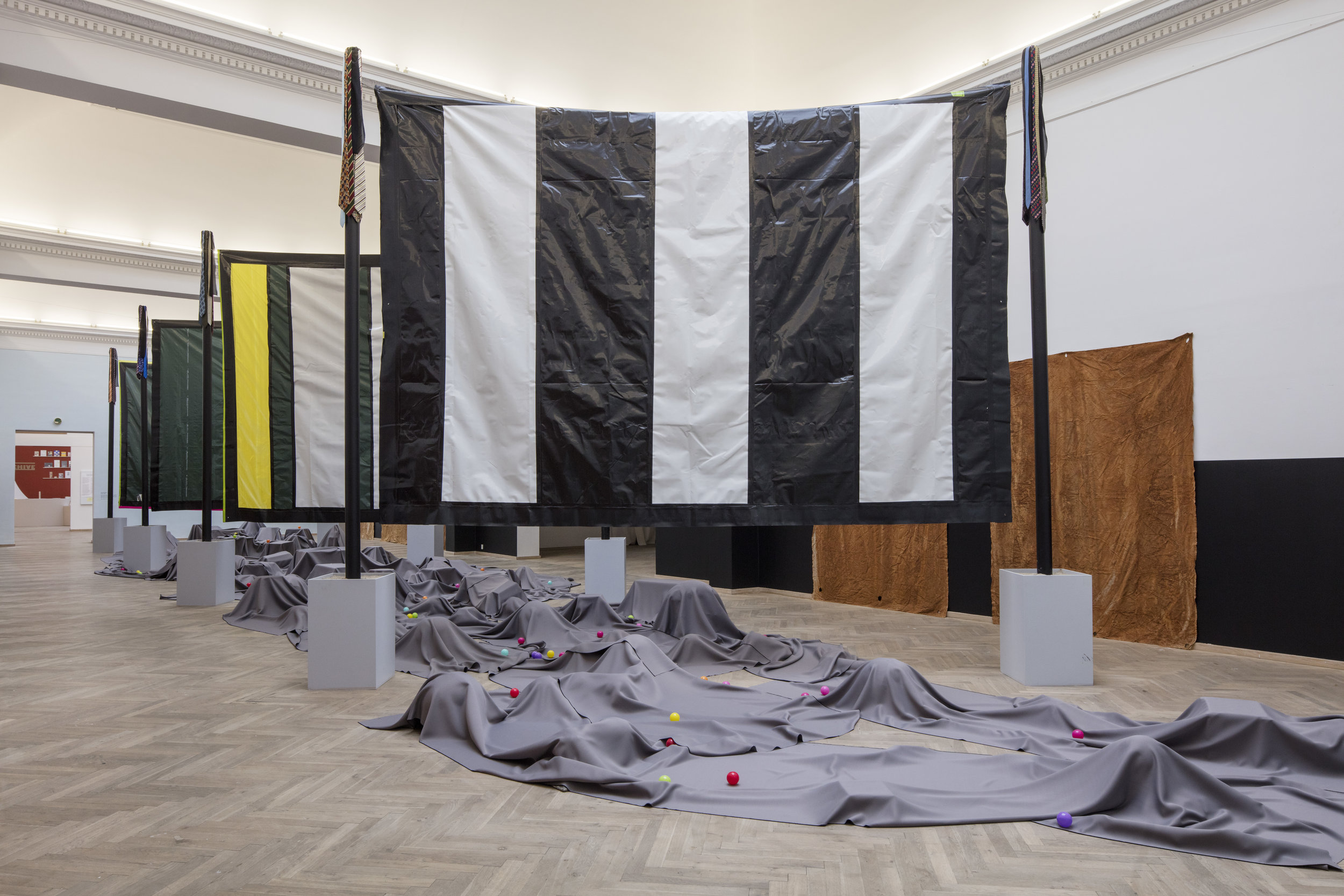 Moshekwa Langa. Mine. Installation View, Kunsthal Charlottenborg 2016. Featured in  An Age of our Own Making. Photo by Anders Sune Berg.