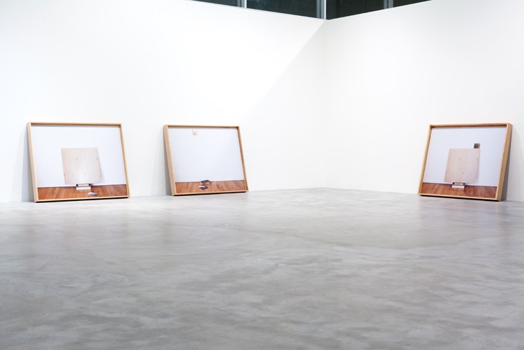 Installation view of  Leslie Hewitt: Sudden Glare of the Sun  at Contemporary Art Museum St. Louis, 2012.