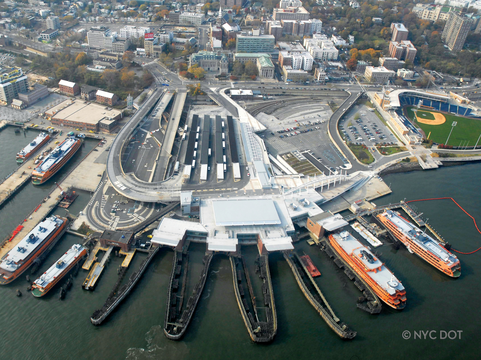 View of St. George Ferry Terminal from above