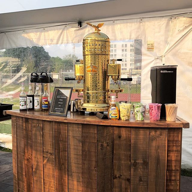 Beautiful set up of @blacktieespresso serving our coffee at @bostoncalling this weekend! If you're there, head on over and mention our post!