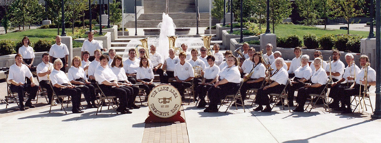 The Lake Area Community Band in Warsaw, 1995.
