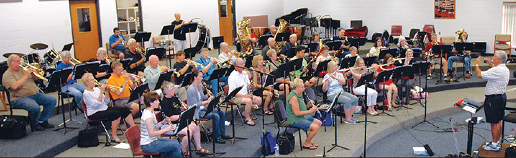 The band in rehearsal at Wawasee Middle School, June 2013.
