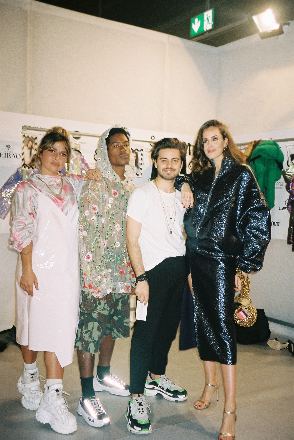 Maria Sampaio, Gonçalo Cabral, Goncalo Peixoto and myself at Lisbon's fashion week backstage.  /Maria Sampaio, Gonçalo Cabral, Goncalo Peixoto e eu no backstage da ModaLisboa.