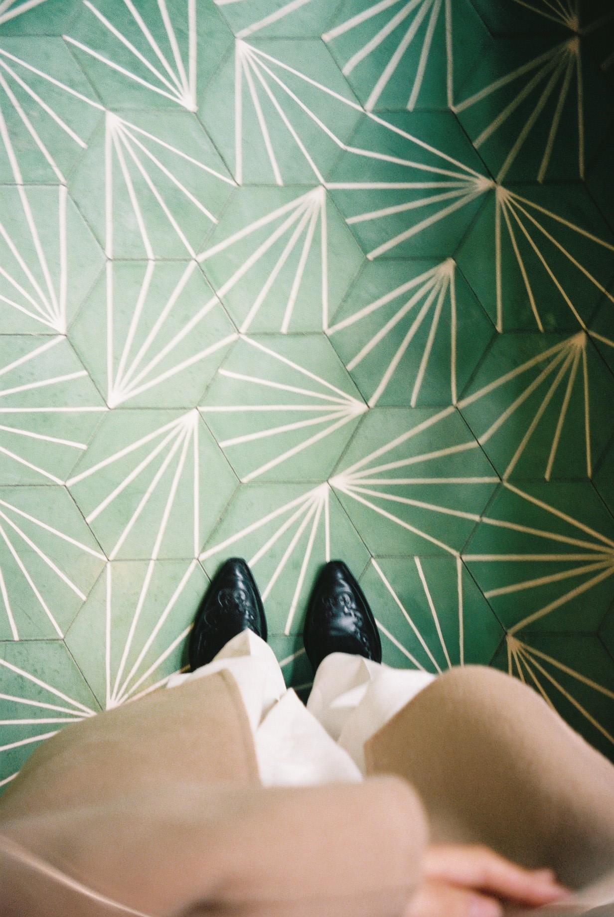 Aesop's floor in Convent Garden.  / O chão da loja da Aesop em Convent Garden.