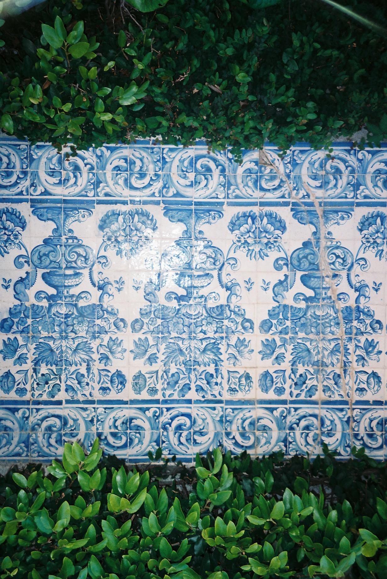 Portuguese tiles.  / Azulejos portugueses.