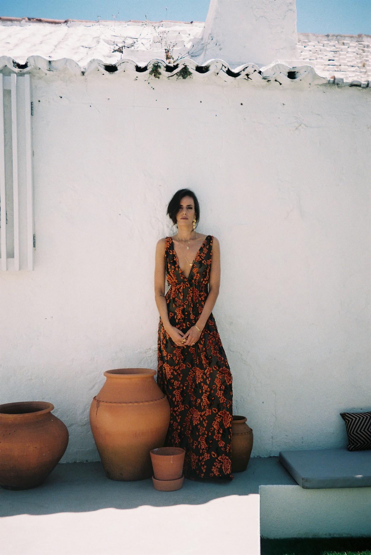 Wearing a beautiful dress from my friend  Gonçalo's  collection. / A usar um lindíssimo vestido da colecção do meu amigo  Gonçalo .